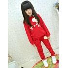 เซ็ตเสื้อกางเกงแมวเหมียว-สีแดง-(5-ตัว/pack)