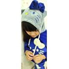 เซ็ตเสื้อกางเกงแมวเหมียว-สีน้ำเงิน-(5-ตัว/pack)