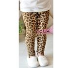 กางเกงเลกกิ้งลายเสือดาว-สีน้ำตาล-(5-ตัว-/pack)