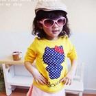 เสื้อยืดแขนสั้น-Hello-Kitty-สีเหลือง-(5size/pack)