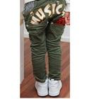 กางเกงขายาว-Music-สีเขียว-(4-ตัว/pack)