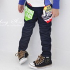 กางเกงขายาวสกรีนลาย-สีน้ำเงิน-(4-ตัว/pack)