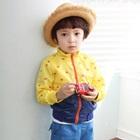 เสื้อแจ็กเก็ตแขนยาวลายจุด-สีเหลือง(4-ตัว/pack)