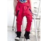 กางเกงขายาวดาวดวงเล็ก-สีชมพู-(4size/pack)