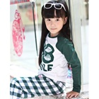 เสื้อยืดแขนยาว-88-Smile-สีเขียว-(4size/pack)