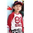 เสื้อยืดแขนยาว-88-Smile-สีแดง-(4size/pack)