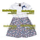 เดรส-Lovely-Flower-ลายดอกสีฟ้า-(5size/pack)