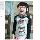 เสื้อยืดแขนยาวแมวเหมียว-สีดำ-(4size/pack)