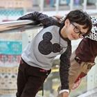 เสื้อยืดแขนยาว-Mickey-สีเทา-(4size/pack)