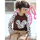 เสื้อยืดแขนยาว-Mickey-สีน้ำตาล-(4size/pack)