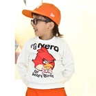 เสื้อยืดแขนยาว-Angry-Bird-สีขาว-(4size/pack)