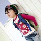 เสื้อแขนยาว-Smile-แขนสีชมพู-(4size/pack)