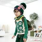 เสื้อแขนยาว-Smile-แขนสีเขียว-(4size/pack)