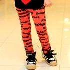 กางเกงเลกกิ้งสกรีนลาย-สีแดง-(5-ตัว-/pack)