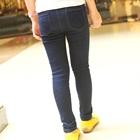 กางเกงยีนส์ขายาวเข้ารูปสีน้ำเงิน-(5-ตัว/pack)