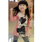 เสื้อยืดแขนยาวลายการ์ตูน-สีชมพู-(5-ตัว/pack)