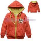 เสื้อกันหนาว-ลิงลายจุด-สีแดง(4size/pack)