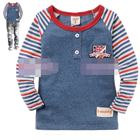 เสื้อแขนยาว--ตราสหรัฐ-สีน้ำเงิน-(5size/pack)