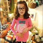 เสื้อแขนยาวอมยิ้ม-สีชมพู-(5-ตัว/pack)