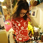 เสื้อแขนยาว-Hello-Kitty-สีแดง-(5-ตัว/pack)