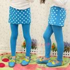 กางเกงเลกกิ้งกระโปรงลายจุด-สีฟ้า-(5-ตัว-/pack)