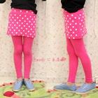 กางเกงเลกกิ้งกระโปรงลายจุด-สีชมพู-(5-ตัว-/pack)