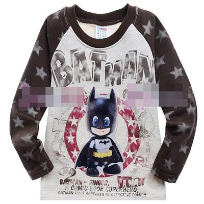 เสื้อยืดแขนยาว-Baby-BatMan-สีเทา-(5size/pack)