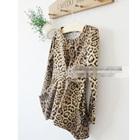 เสื้อแขนยาวสกรีนลายเสือดาว-สีน้ำตาล-(5size/pack)