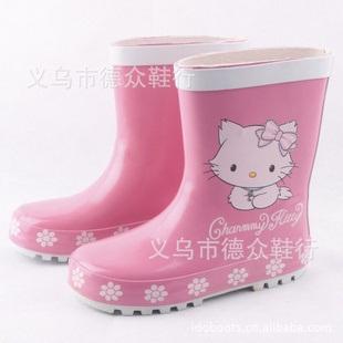 รองเท้าบู๊ทกันน้ำ Hello Kitty สีชมพู (5 คู่/แพ็ค)