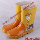 รองเท้าบู๊ทกันน้ำยีราฟน้อยสีเหลือง(5-คู่/แพ็ค)