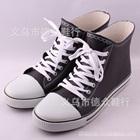รองเท้าผ้าใบหนังสุดเท่ห์-สีดำ-(5-คู่/แพ็ค)
