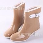 รองเท้าบู๊ทส้นสูงกันน้ำ-สี-Apricot-(5-คู่/แพ็ค)