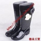 รองเท้าบู๊ทดอกกุหลาบ-สีดำ-(5-คู่/แพ็ค)