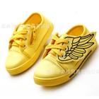 รองเท้าผ้าใบปีกนางฟ้า-สีเหลือง-(6-คู่/แพ็ค)