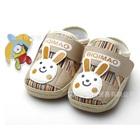 รองเท้าผ้าเด็กกระต่ายยิ้ม-สีน้ำตาล-(4-คู่/แพ็ค)