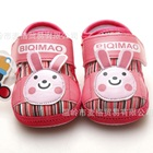 รองเท้าผ้าเด็กกระต่ายยิ้ม-สีชมพู-(4-คู่/แพ็ค)