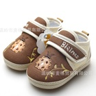 รองเท้าผ้าเด็กเต่าทองน่ารัก-สีน้ำตาล-(4-คู่/แพ็ค)