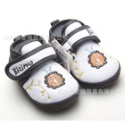รองเท้าผ้าเด็กเต่าทองน่ารัก-สีขาวเทา-(4-คู่/แพ็ค)