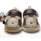 รองเท้าผ้าเด็กหมีพูลล์ยิ้ม-สีน้ำตาล-(4-คู่/แพ็ค)
