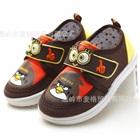 รองเท้าเด็ก-Angry-Bird-สีน้ำตาล-(6-คู่/แพ็ค)