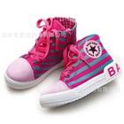 รองเท้าผ้าใบลายขวาง-สีชมพู-(6-คู่/แพ็ค)