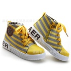 รองเท้าผ้าใบลายขวาง-สีเหลือง-(6-คู่/แพ็ค)