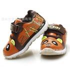 รองเท้าผ้าใบหมีแพนด้า-สีน้ำตาลแดง-(6-คู่/แพ็ค)