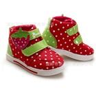 รองเท้าเด็ก-Strawberry-สีแดง-(6-คู่/แพ็ค)