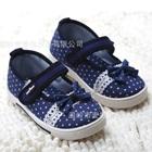 รองเท้าเด็กลายจุดประดับโบว์-สีน้ำเงิน-(6-คู่/แพ็ค)