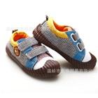 รองเท้าผ้าใบลายตารางเล็ก-สีน้ำตาล-(6-คู่/แพ็ค)