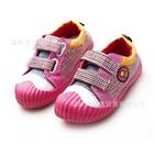 รองเท้าผ้าใบลายตารางเล็ก-สีชมพู-(6-คู่/แพ็ค)