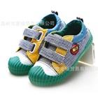 รองเท้าผ้าใบลายตารางเล็ก-สีเขียว-(6-คู่/แพ็ค)