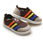 รองเท้าผ้าใบสามแถบ-สีน้ำตาล-(6-คู่/แพ็ค)