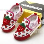 รองเท้าเด็กสตอเบอรี่-สีชมพูแดง-(6-คู่/แพ็ค)